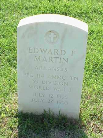 MARTIN (VETERAN WWI), EDWARD F - Pulaski County, Arkansas | EDWARD F MARTIN (VETERAN WWI) - Arkansas Gravestone Photos