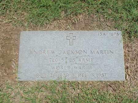 MARTIN (VETERAN WWII), ANDREW JACKSON - Pulaski County, Arkansas | ANDREW JACKSON MARTIN (VETERAN WWII) - Arkansas Gravestone Photos