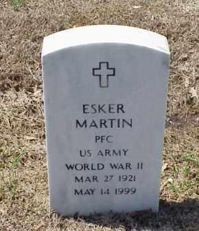 MARTIN (VETERAN WWII), ESKER - Pulaski County, Arkansas | ESKER MARTIN (VETERAN WWII) - Arkansas Gravestone Photos