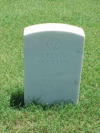 MARTIN (VETERAN WWII), LEO D - Pulaski County, Arkansas | LEO D MARTIN (VETERAN WWII) - Arkansas Gravestone Photos
