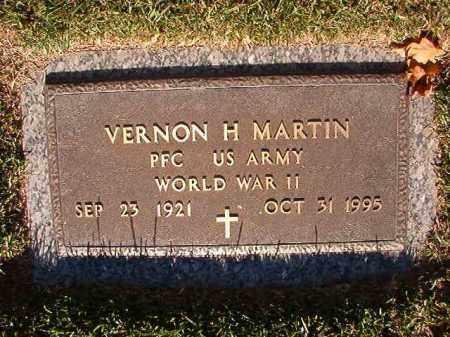 MARTIN (VETERAN WWII), VERNON H - Pulaski County, Arkansas | VERNON H MARTIN (VETERAN WWII) - Arkansas Gravestone Photos