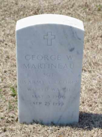 MARTINEAU (VETERAN WWII), GEORGE W - Pulaski County, Arkansas | GEORGE W MARTINEAU (VETERAN WWII) - Arkansas Gravestone Photos