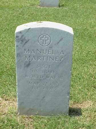 MARTINEZ (VETERAN WWII), MANUEL A - Pulaski County, Arkansas | MANUEL A MARTINEZ (VETERAN WWII) - Arkansas Gravestone Photos