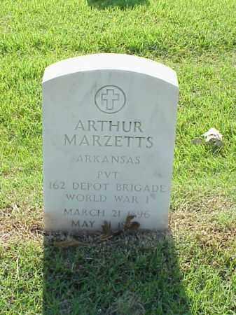 MARZETTS (VETERAN WWI), ARTHUR - Pulaski County, Arkansas | ARTHUR MARZETTS (VETERAN WWI) - Arkansas Gravestone Photos