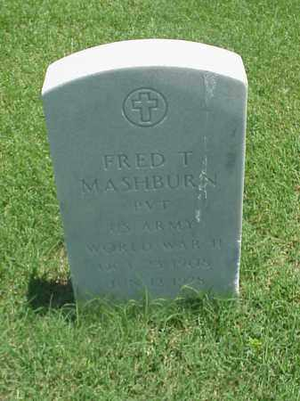 MASHBURN (VETERAN WWII), FRED T - Pulaski County, Arkansas | FRED T MASHBURN (VETERAN WWII) - Arkansas Gravestone Photos
