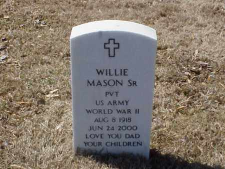 MASON, SR  (VETERAN WWII), WILLIE - Pulaski County, Arkansas | WILLIE MASON, SR  (VETERAN WWII) - Arkansas Gravestone Photos