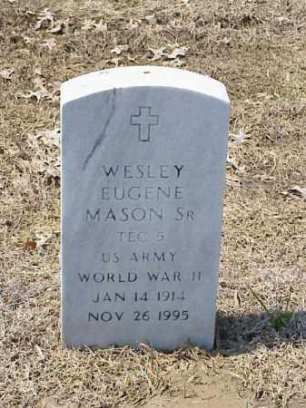 MASON, SR (VETERAN WWII), WESLEY EUGENE - Pulaski County, Arkansas | WESLEY EUGENE MASON, SR (VETERAN WWII) - Arkansas Gravestone Photos