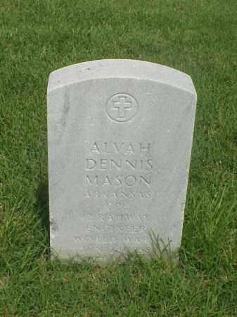 MASON (VETERAN WWI), ALVAH DENNIS - Pulaski County, Arkansas | ALVAH DENNIS MASON (VETERAN WWI) - Arkansas Gravestone Photos