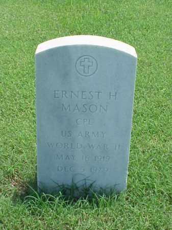 MASON (VETERAN WWII), ERNEST H - Pulaski County, Arkansas | ERNEST H MASON (VETERAN WWII) - Arkansas Gravestone Photos