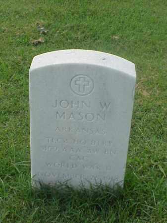 MASON (VETERAN WWII), JOHN W - Pulaski County, Arkansas | JOHN W MASON (VETERAN WWII) - Arkansas Gravestone Photos