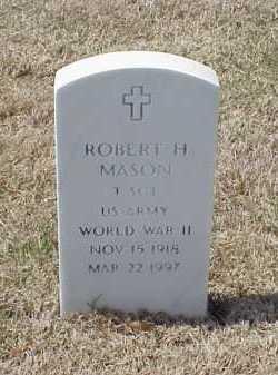 MASON (VETERAN WWII), ROBERT H - Pulaski County, Arkansas | ROBERT H MASON (VETERAN WWII) - Arkansas Gravestone Photos