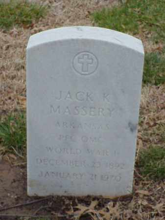 MASSERY  (VETERAN  WWII), JACK K - Pulaski County, Arkansas | JACK K MASSERY  (VETERAN  WWII) - Arkansas Gravestone Photos