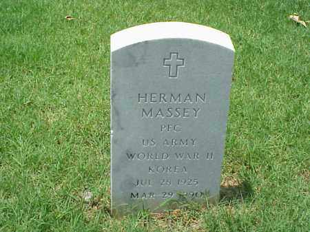 MASSEY (VETERAN 2 WARS), HERMAN - Pulaski County, Arkansas | HERMAN MASSEY (VETERAN 2 WARS) - Arkansas Gravestone Photos