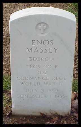 MASSEY (VETERAN WWII), ENOS - Pulaski County, Arkansas | ENOS MASSEY (VETERAN WWII) - Arkansas Gravestone Photos