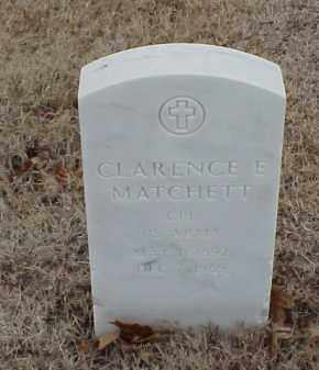 MATCHETT  (VETERAN WWI), CLARENCE E - Pulaski County, Arkansas | CLARENCE E MATCHETT  (VETERAN WWI) - Arkansas Gravestone Photos