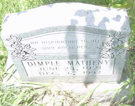 MATHENY, DIMPLE - Pulaski County, Arkansas | DIMPLE MATHENY - Arkansas Gravestone Photos
