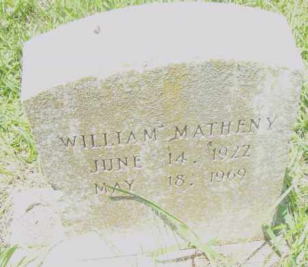 MATHENY, WILLIAM - Pulaski County, Arkansas | WILLIAM MATHENY - Arkansas Gravestone Photos