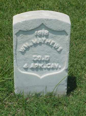 MATHEWS (VETERAN UNION), WILLIAM - Pulaski County, Arkansas | WILLIAM MATHEWS (VETERAN UNION) - Arkansas Gravestone Photos