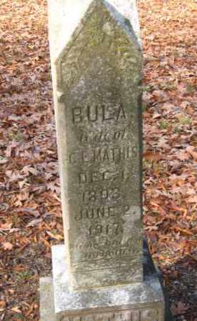 MATHIS, BULA - Pulaski County, Arkansas | BULA MATHIS - Arkansas Gravestone Photos