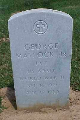 MATLOCK, JR. (VETERAN WWII), GEORGE - Pulaski County, Arkansas | GEORGE MATLOCK, JR. (VETERAN WWII) - Arkansas Gravestone Photos
