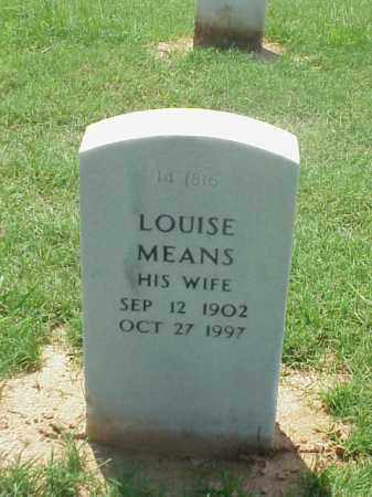 MEANS MATSEK, LOUISE - Pulaski County, Arkansas | LOUISE MEANS MATSEK - Arkansas Gravestone Photos