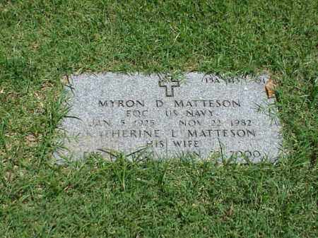 MATTESON (VETERAN 3 WARS), MYRON D - Pulaski County, Arkansas | MYRON D MATTESON (VETERAN 3 WARS) - Arkansas Gravestone Photos