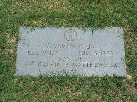 MATTHEWS, JR, CALVIN B - Pulaski County, Arkansas   CALVIN B MATTHEWS, JR - Arkansas Gravestone Photos