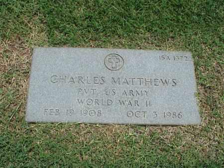 MATTHEWS (VETERAN WWII), CHARLES - Pulaski County, Arkansas | CHARLES MATTHEWS (VETERAN WWII) - Arkansas Gravestone Photos