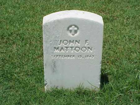 MATTOON, JOHN F - Pulaski County, Arkansas | JOHN F MATTOON - Arkansas Gravestone Photos