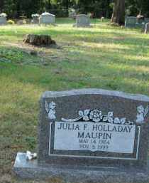 HOLLADAY MAUPIN, JULIA F - Pulaski County, Arkansas | JULIA F HOLLADAY MAUPIN - Arkansas Gravestone Photos