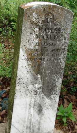 MAXEY (VETERAN), CHARLES - Pulaski County, Arkansas | CHARLES MAXEY (VETERAN) - Arkansas Gravestone Photos
