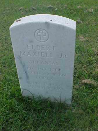 MAXIELL, JR (VETERAN KOR), ELBERT - Pulaski County, Arkansas | ELBERT MAXIELL, JR (VETERAN KOR) - Arkansas Gravestone Photos