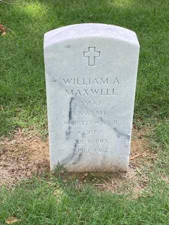 MAXWELL (VETERAN 2 WARS), WILLIAM A - Pulaski County, Arkansas | WILLIAM A MAXWELL (VETERAN 2 WARS) - Arkansas Gravestone Photos