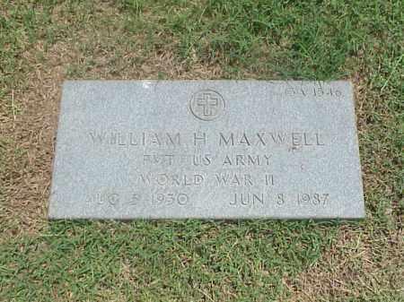 MAXWELL (VETERAN WWII), WILLIAM H - Pulaski County, Arkansas | WILLIAM H MAXWELL (VETERAN WWII) - Arkansas Gravestone Photos