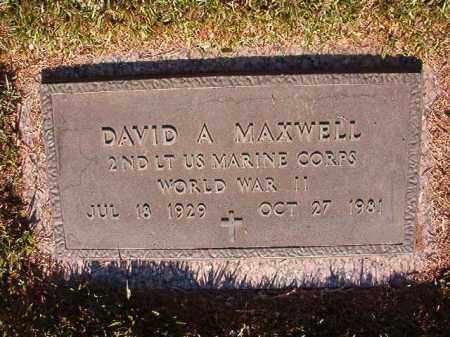 MAXWELL (VETERAN WWII), DAVID A - Pulaski County, Arkansas | DAVID A MAXWELL (VETERAN WWII) - Arkansas Gravestone Photos