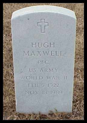 MAXWELL (VETERAN WWII), HUGH - Pulaski County, Arkansas | HUGH MAXWELL (VETERAN WWII) - Arkansas Gravestone Photos