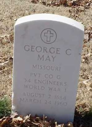 MAY  (VETERAN WWI), GEORGE C - Pulaski County, Arkansas | GEORGE C MAY  (VETERAN WWI) - Arkansas Gravestone Photos