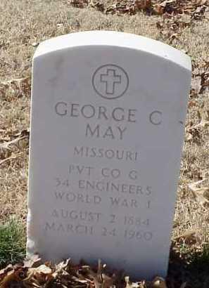 MAY  (VETERAN WWI), GEORGE C - Pulaski County, Arkansas | GEORGE C MAY  (VETERAN WWI) - Arkansas Gravestone Photos