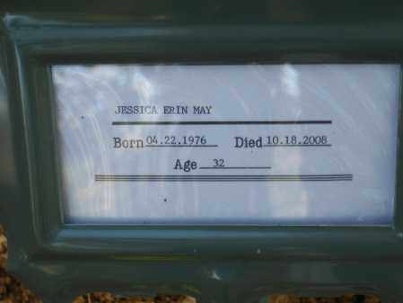 MAY, JESSICA ERIN - Pulaski County, Arkansas | JESSICA ERIN MAY - Arkansas Gravestone Photos