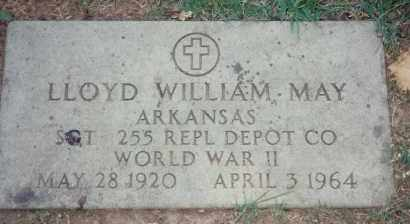 MAY (VETERAN WWII), LLOYD WILLIAM - Pulaski County, Arkansas | LLOYD WILLIAM MAY (VETERAN WWII) - Arkansas Gravestone Photos