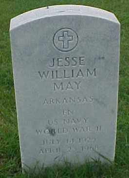 MAY (VETERAN WWII), JESSE WILLIAM - Pulaski County, Arkansas | JESSE WILLIAM MAY (VETERAN WWII) - Arkansas Gravestone Photos