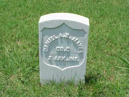MAYES (VETERAN UNION), DANIEL A S - Pulaski County, Arkansas | DANIEL A S MAYES (VETERAN UNION) - Arkansas Gravestone Photos