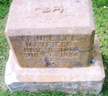 MAYFIELD, PRINCE LEE - Pulaski County, Arkansas | PRINCE LEE MAYFIELD - Arkansas Gravestone Photos