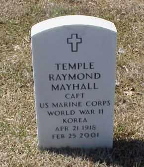 MAYHALL (VETERAN 2 WARS), TEMPLE RAYMOND - Pulaski County, Arkansas | TEMPLE RAYMOND MAYHALL (VETERAN 2 WARS) - Arkansas Gravestone Photos