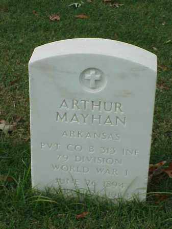 MAYHAN (VETERAN WWI), ARTHUR - Pulaski County, Arkansas | ARTHUR MAYHAN (VETERAN WWI) - Arkansas Gravestone Photos