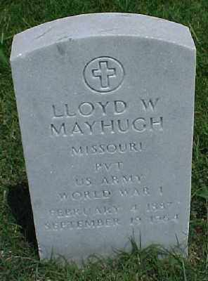 MAYHUGH (VETERAN WWI), LLOYD W - Pulaski County, Arkansas | LLOYD W MAYHUGH (VETERAN WWI) - Arkansas Gravestone Photos