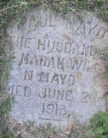 MAYO, PAUL - Pulaski County, Arkansas | PAUL MAYO - Arkansas Gravestone Photos