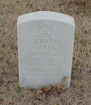 MAYS  (VETERAN WWI), JOSEPH - Pulaski County, Arkansas | JOSEPH MAYS  (VETERAN WWI) - Arkansas Gravestone Photos