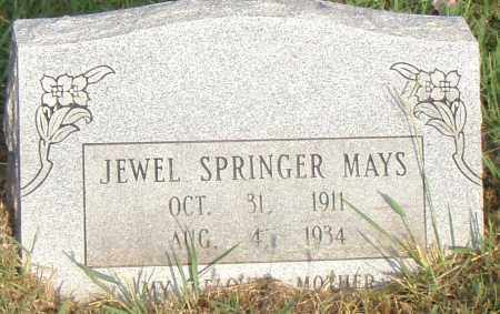 SPRINGER MAYS, JEWEL - Pulaski County, Arkansas | JEWEL SPRINGER MAYS - Arkansas Gravestone Photos
