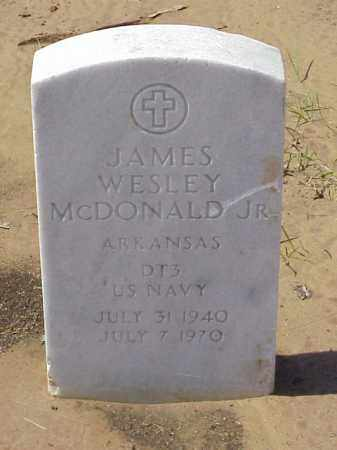 MCDONALD, JR  (VETERAN), JAMES WESLEY - Pulaski County, Arkansas | JAMES WESLEY MCDONALD, JR  (VETERAN) - Arkansas Gravestone Photos